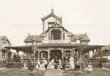 Victorian Arts & Crafts house porch family 1900 photo 5x7 or request 8x10 or ...