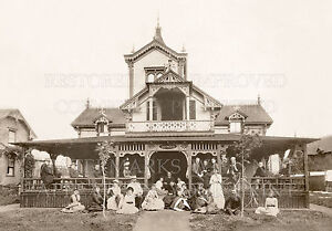Victorian Arts & Crafts house porch family 1900 photo: 5x7 or request digital CD