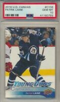 2016-17 Upper Deck Series 1 Canvas Young Guns C106 Patrik Laine PSA Gem Mint 10