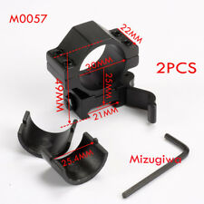 "2PCS Tactical Low Profile QD 1""/30MM Ring 21mm Weaver Picatinny Rail Scope Mount"