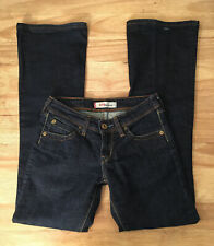 Womens Levis 572 BOOTCUT Stretch Blue Jeans Dark Wash Denim - Size W26 L30