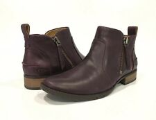 UGG AUREO ANKLE BOOTS OXBLOOD WINE LEATHER -US SIZE 10 -NEW