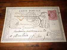 1873.Carte postale autographe .Paul de Musset