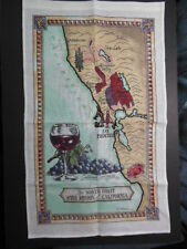 Linen Towel: The North Coast Wine Region of California