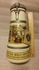 "Rauchenfelser Ale of the Millennium 12"" Lidded German Beer Stein w/ Original Tag"