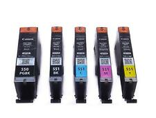PGI-550 CLI-551 Genuine Original Canon Ink Cartridges for MG5550, MG5650, MG6450