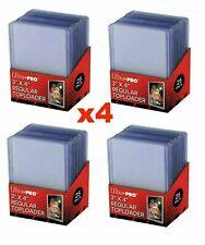 100 x Ultra Pro CLEAR TOPLOADER 3x4 Regular Card Rigid Protector 35pt 4 Packs