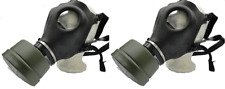 2 PACK Israeli Gas Mask Genuine Military Sealed NATO Filter Full NBC Protection