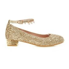 Ladies Girls Shiny Sequined Loafers Beads Tassel Wedding Shoes Dance Flats Size