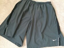 Mens Nike Dri Fit Basketball Shorts Gray Athletic Light Weight Bottoms Sz XL