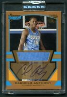 2003-04 Bowman Signature Gold Carmelo Anthony RC Rookie Jersey AUTO /99 HOF $$$