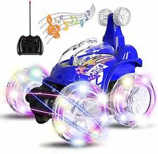 Kids Remote Control Stunt Car RC Tornado Twister Truck USB Rechargeable LED Toy