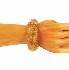 Yellow Gold BLING BLING Sparkle Handmade Seed Bead Stretch Elastic Bracelet