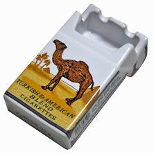 Camel Ceramic Ashtray Advertising Cigarettes Pack Shape Camel Ashtray New Box