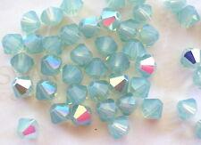 24 Pacific Opal AB Swarovski Crystal Beads Bicone 5328 4mm