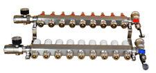 9 Branch Pex Radiant Geothermal Water Divider Floor Heating Manifold Set