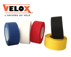 x2 Rolls of Velox Tressosrex Cloth Handlebar Tape - Black Blue Red White Yellow