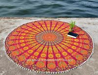 Indian Tassel Round Roundie Tapestry Wall Hanging Hippie Boho Beach Throw Decor