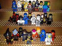 30 Lego City Figuren mit Kopfbedeckung. Minifig, Town, Polizei, Arbeiter, C9