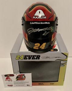 Jeff Gordon signed 1:3 scale limited edition AXALTA NASCAR racing helmet.