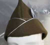 WW2 US OFFICER AIRBORNE PARATROOPER WOOL GARRISON CAP XL 60& BLUE PATCH
