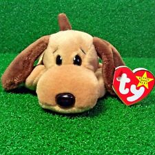 NEW Ty Beanie Baby Bones The Dog Rare 1994 Retired PVC Plush Toy MWMT Ships FREE