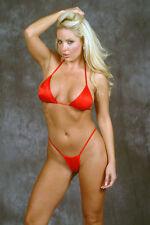 Red Micro Thong Sexy String Bikini/m-l/Pole Dancer/Stripper/Tanning/Made in usa
