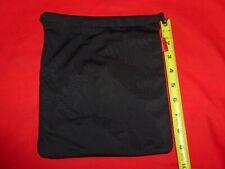 Genuine Sony Headphone/Accessories Soft Slick Fabric Bag/Sack w/Pocket - Black