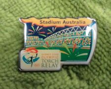 SYDNEY OLYMPIC TORCH RELAY PIN - STADIUM AUSTRALIA