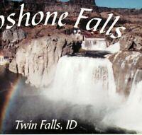 Shoshone Falls Rainbow Waterfall Niagara of the West Twin Falls ID Postcard