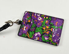 COACH F57990 LANYARD ID CASE FLOWER VIOLET MULTI $65