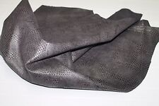 Italian Goatskin leather skin skins hide DARK TAUPE BROWN PRINTED 3+sqf #A1789