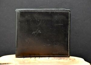 Paul Smith Authentic Mens Bifold Leather Wallet Card Wallet Black