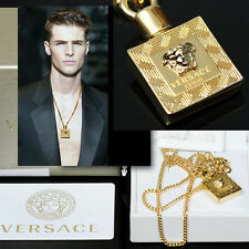 GIANNI VERSACE Men's GOLD MEDUSA NECKLACE w/ Box, Tag & Certificate