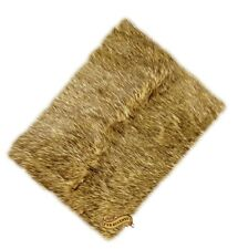 FUR ACCENTS Wolf Rug / Light Golden Wolf Coyote Area Rug