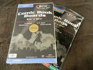 100 New BCW Current Resealable Thick Comic Book Bags And Boards - Acid Free - Ar