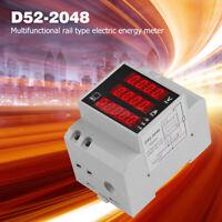 Din Rail Energy Meter Ammeter Voltmeter Multi-use Power Meter with LED Display