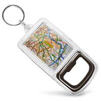 Acrylic Bottle Opener Keyring - Birmingham England Travel City UK Map  #44284
