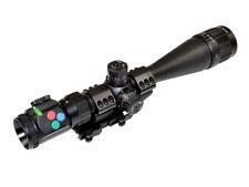 PRESMA 4-16x40 Rifle Scope w Cantilever QR mount Bubble RGB AO Shade Clear Optic
