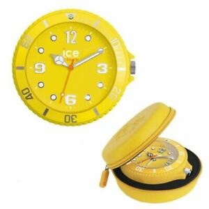 GLAÇON ALARM CLOCK YELLOW WITH CARRY CASE SNOOZE FUNCTION AND BACKLIGHT
