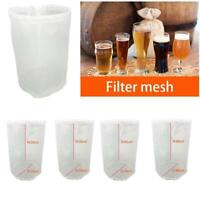 White Nylon Filter Bag Grade Wine Beer Home Brew Mesh Bag Bucket Filter Reusable