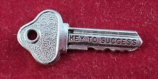 "Sterling SILVER Charm HOUSE KEY ""KEY TO SUCCESS"""