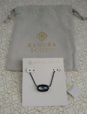 Kendra Scott Elisa Oval Necklace in Indigo Illusion and Navy Gunmetal