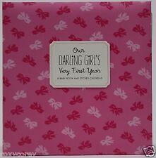 Hallmark Our Darling Girl Very First Year Baby Book & Sticker Calendar Album Nwt