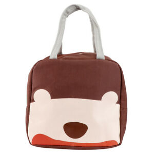 1pc Cartoon Pattern Bag Antifouling Portable Meal Bag for Students