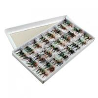 96pcs /set Trout Bait Dry Fly Fishing Hooks Streamer Lure Kit with Case Box Hot
