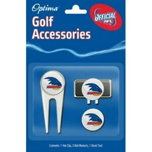 AFL GOLF ACCESSORY PACK - ADELAIDE - OFFICIAL AFL PRODUCT - GIFT IDEA!