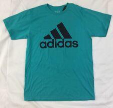 Adidas Men's Shirt The Go To Tee Shirt Logo Energy Blue CA9818 L