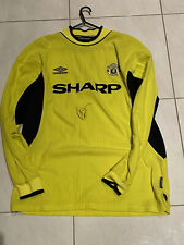 Mark Bosnich Hand Signed Umbro Manchester United Jersey Shirt M 2000 Vintage