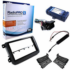 Double DIN Radio Replacement w/SWC Retention Interface Dash kit & Antenna for VW